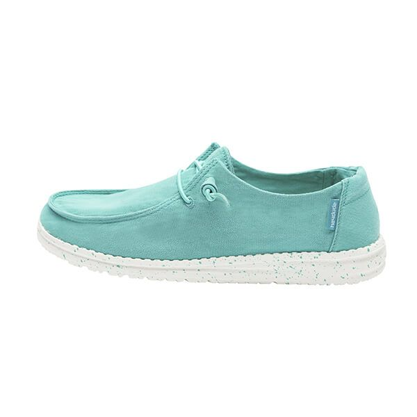 Dude Shoes Wendy Mint Washed Canvas