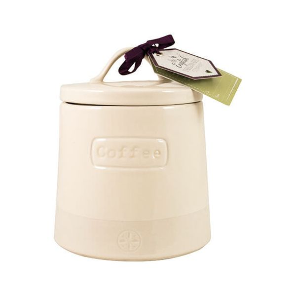 English Tableware Company Artisan Cream Coffee Canister With Lid