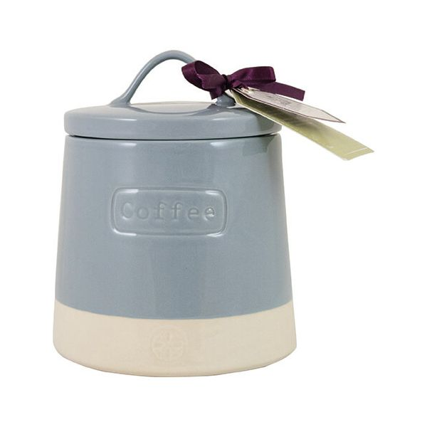 English Tableware Company Artisan Blue Coffee Canister With Lid