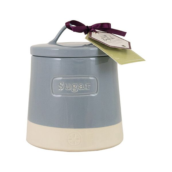 English Tableware Company Artisan Blue Sugar Canister With Lid