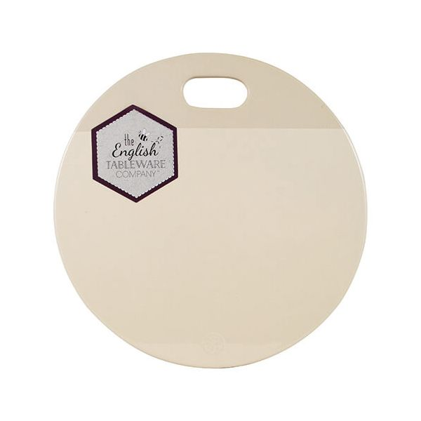 English Tableware Company Artisan Cream Ceramic Serving & Chopping Plate