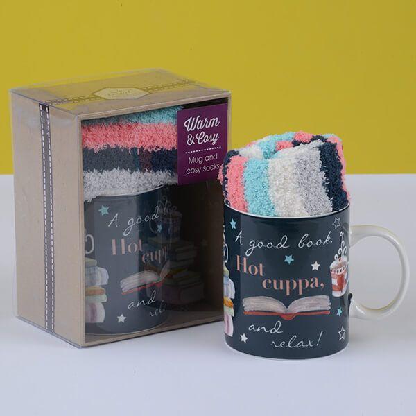 English Tableware Company Hot Cuppa Mug & Sock Set