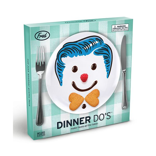 Fred Dinner Do's Boys Childrens Set Of 3 Dinner Plate