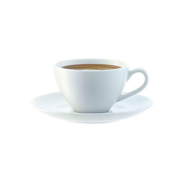 LSA Dine Espresso Cup & Saucer Curved 0.1L Set Of 4