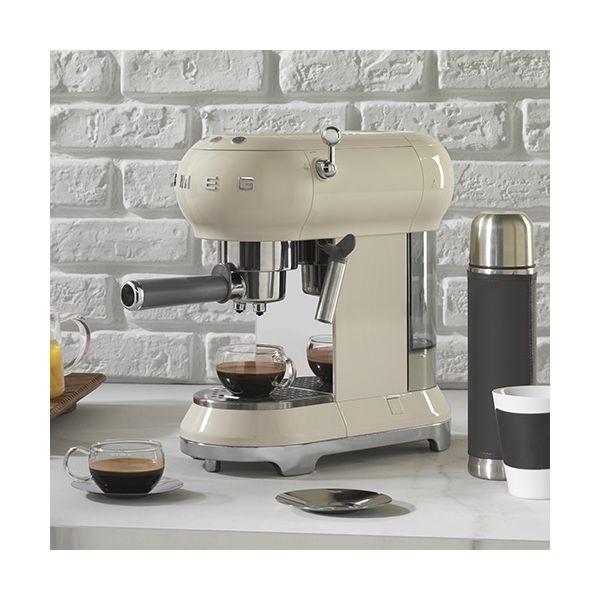 Smeg Espresso Coffee Machine, Cream