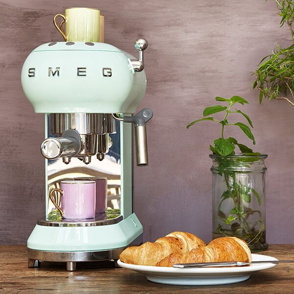 Smeg Espresso Coffee Machine, Pastel Green