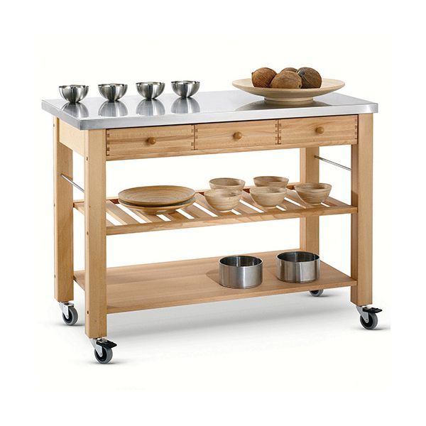 Free Kitchen Catalogs: Lambourn Three Drawer Stainless Steel Top Kitchen Trolley