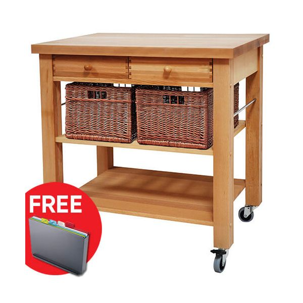 Free Kitchen Catalogs: Eddingtons Lambourn Two Drawer Kitchen Trolley