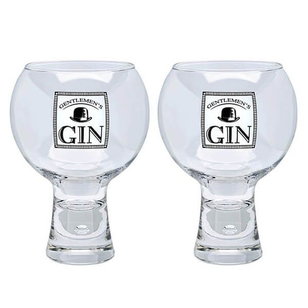 Durobor Raising Spirits Set Of 2 Gentlemen's Gin Glasses