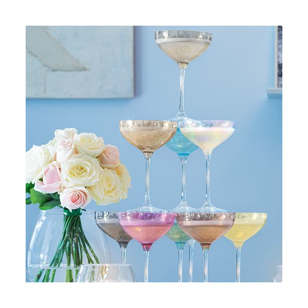 LSA Tower Champagne Saucer Set Assorted 10 Piece