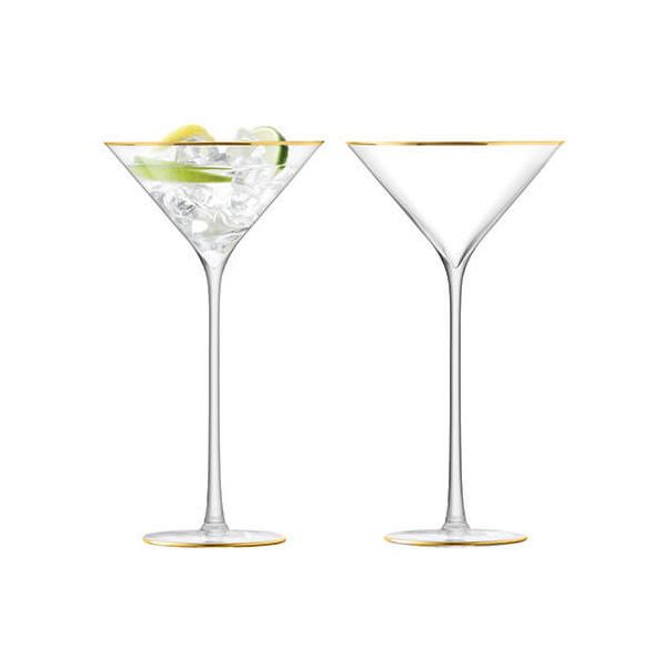 LSA Celebrate Gold Cocktail Glass 225ml Set Of 2