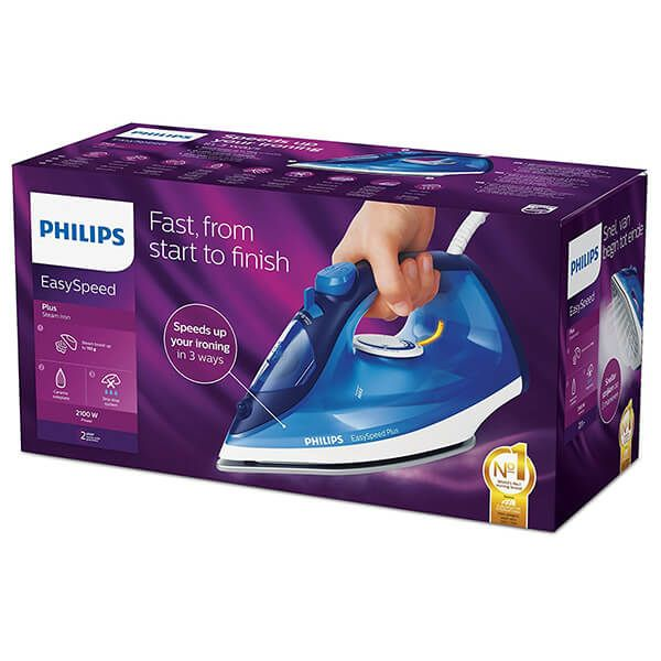 Philips Easy Speed Plus Steam Iron In Blue