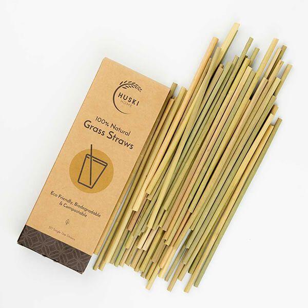 Huski Home Pack Of 50 Sustainable Grass Straws