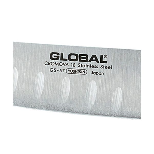 Global GS-57 Fluted Santoku Knife