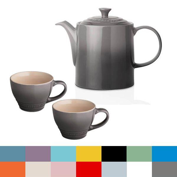 Le Creuset Flint Grand Teapot and Grand Mug Set