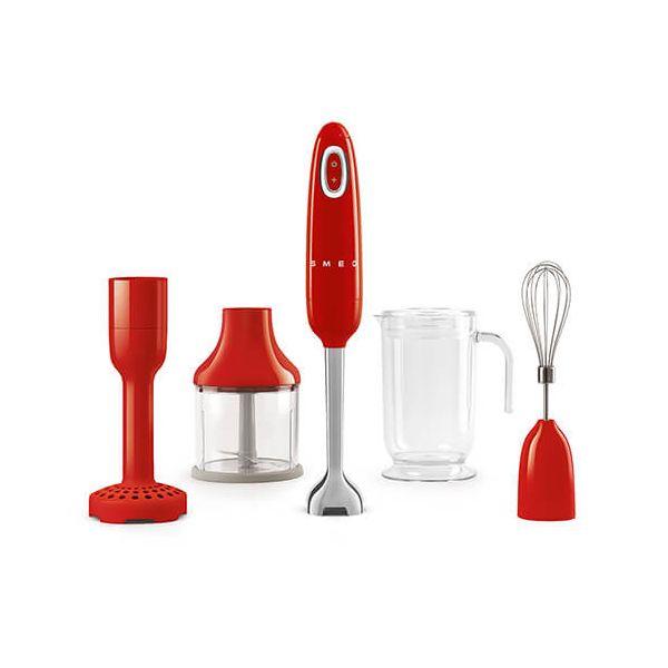 Smeg Retro Style Hand Blender Set, Red