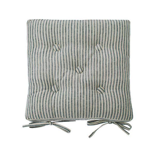 Walton & Co Hampton Stripe Seat Pad With Ties