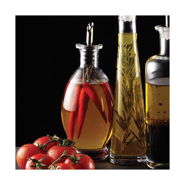 World of Flavours Italian Glass Oil & Vinegar Bottle 400ml
