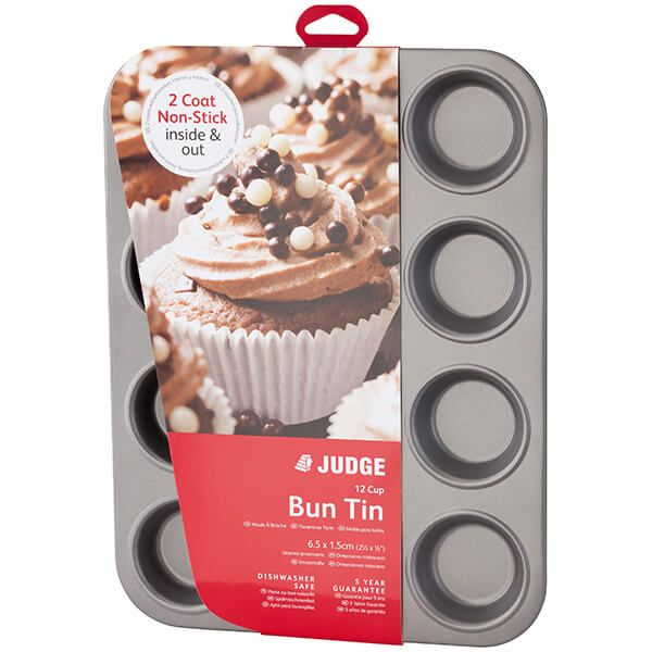 Judge Bakeware 12 Cup Bun Tin