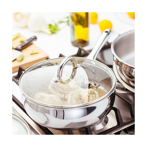 Judge Classic 24cm Saute Pan With Glass Lid