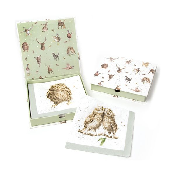 Wrendale Designs What A Hoot Pack Of 20 Napkins Boxed