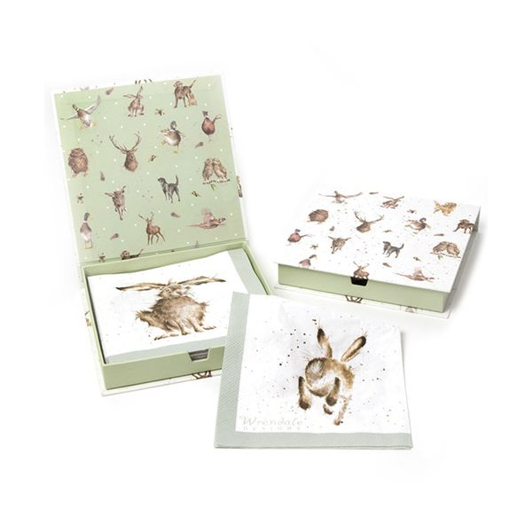 Wrendale Designs Hare-Brained Pack Of 20 Napkins Boxed