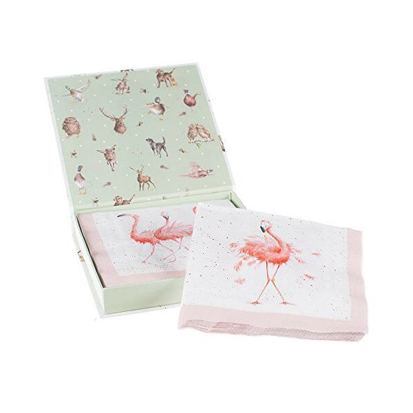 Wrendale Designs Pretty in Pink Pack Of 20 Napkins Boxed