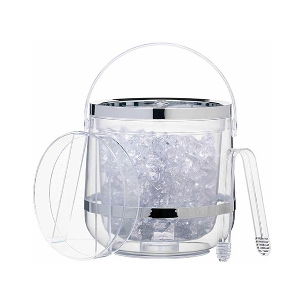 BarCraft Double Walled Ice Bucket & Tongs