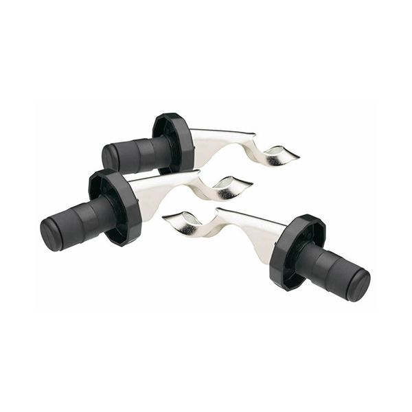 BarCraft Set Of 3 Lever Arm Bottle Stoppers