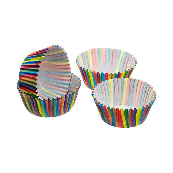 Sweetly Does It Pack of Sixty Jazzy Stripe Cake Cases