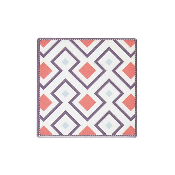 KitchenCraft Moroccan Inspired Terracotta Geo Cork Back Ceramic Coaster