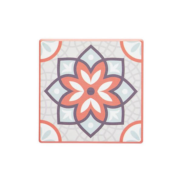KitchenCraft Moroccan Inspired Terracotta Mandala Cork Back Ceramic Coaster