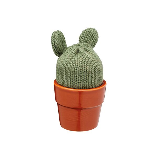 KitchenCraft Cactus Egg Cup Holder and Egg Cosy