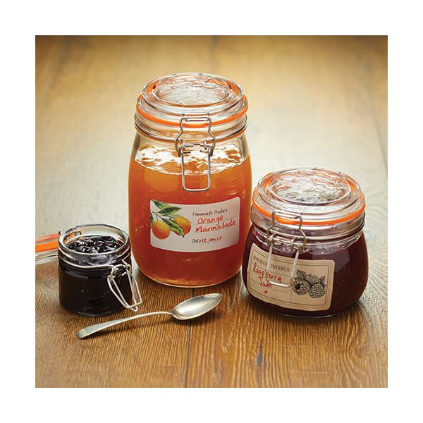 Home Made Roll Of 100 Self-Adhesive Assorted Preserve Jar Labels