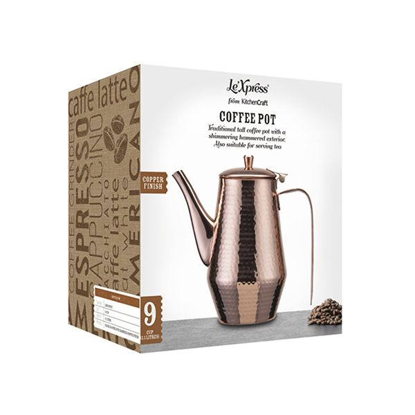 Le Xpress Hammered Copper Finish Teapot