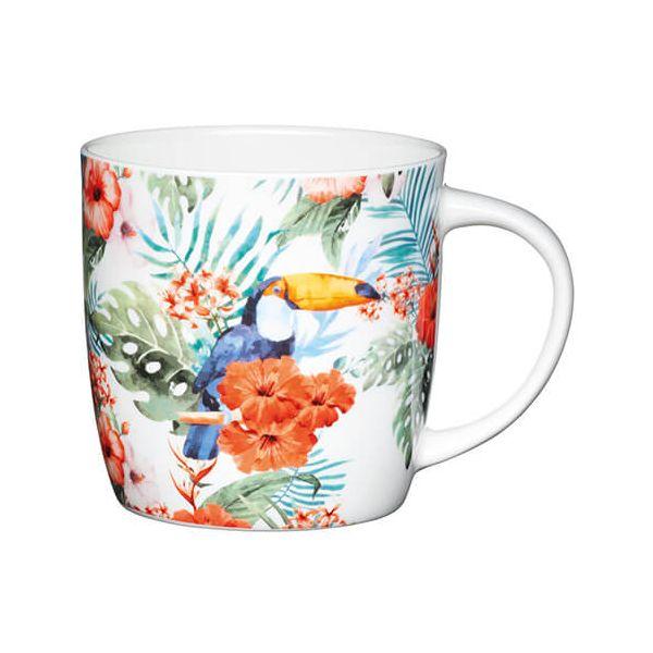 KitchenCraft China 425ml Barrel Shaped Mug, Toucan