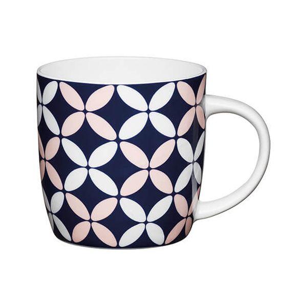 KitchenCraft China 425ml Barrel Shaped Mug, Petals
