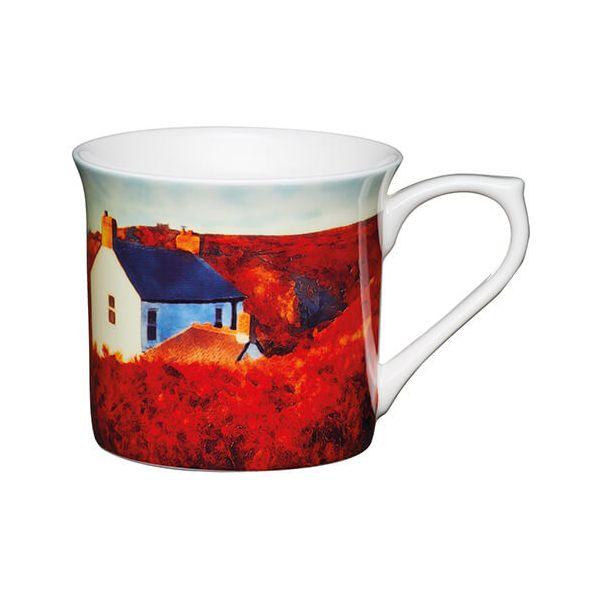 KitchenCraft China 300ml Fluted Mug, Landscape