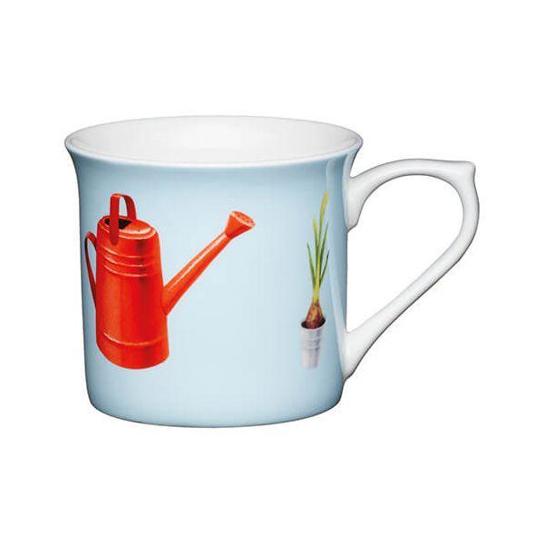KitchenCraft China 300ml Fluted Mug, Watering Can
