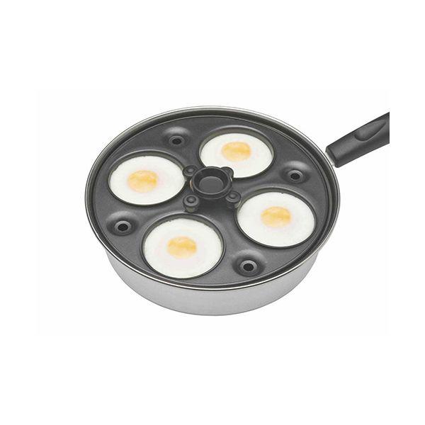 KitchenCraft Stainless Steel Four Hole Egg Poacher