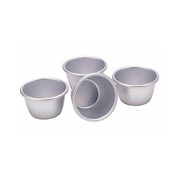 KitchenCraft Anodised Mini Pudding Moulds 7.5cm, Set of Four