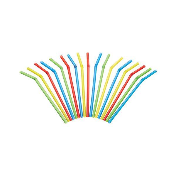 KitchenCraft Pack of 125 Plastic Drinks Straws