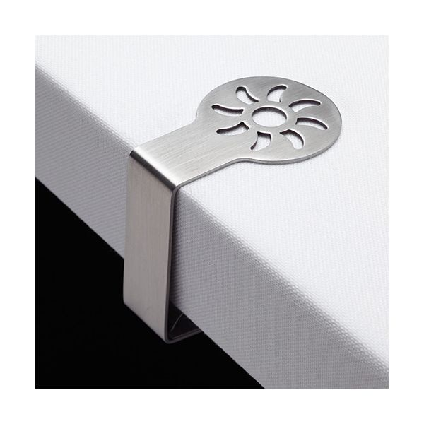 KitchenCraft Stainless Steel Sunshine Shaped Table Cloth Clips