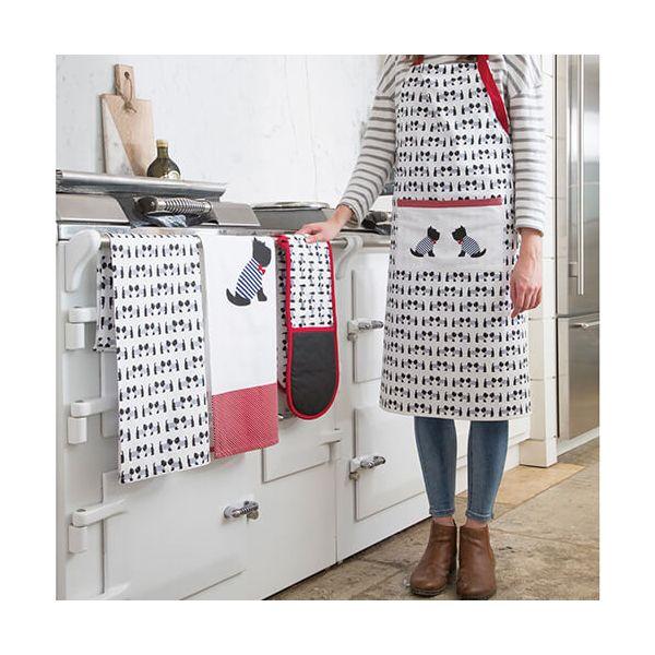 KitchenCraft Westie Dog Tea Towels 2 Piece Set