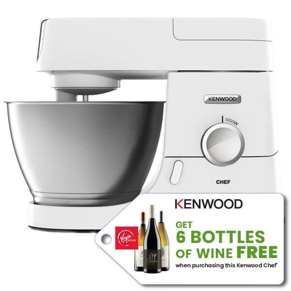 Kenwood Chef KVC3100WH Food Mixer - FREE Virgin Wine Promotion