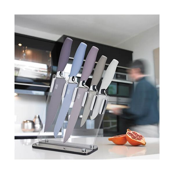 Taylors Eye Witness Brooklyn Stone 5 Piece Sloping Knife Block Set