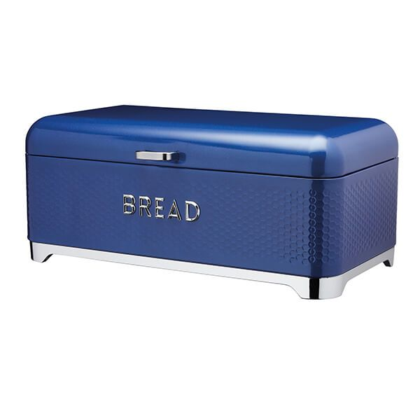 Lovello Retro Midnight Blue Textured Bread Bin