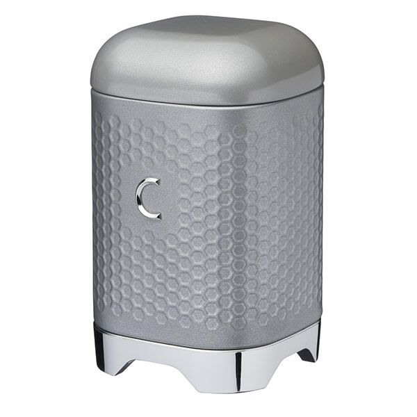 Lovello Retro Shadow Grey Textured Coffee Canister