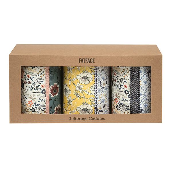 Fat Face Set of 3 Round Storage Tins