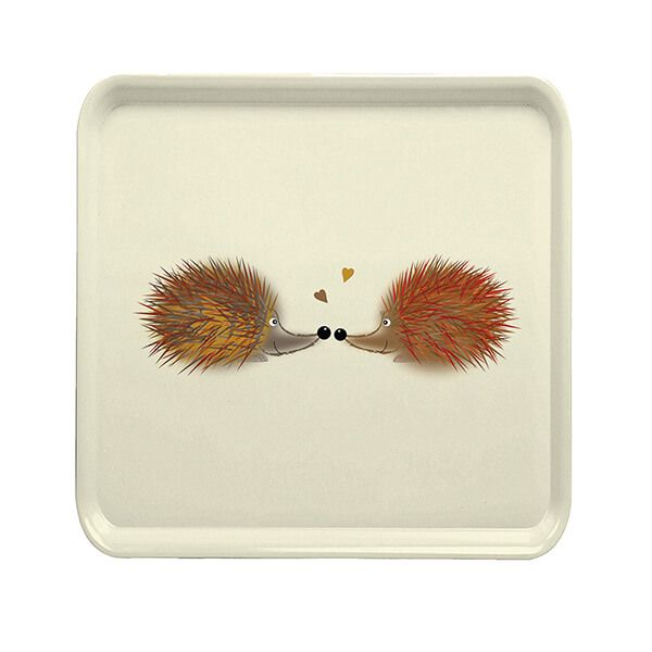 Melamaster Square Tray Hedgehog
